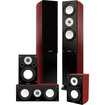 Fluance - XLHTB High Performance 5 Speaker Surround Sound Home Theater System - Glossy Piano Black, Mahogany