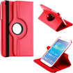 DrHotDeal - 360 Degree Rotating PU Leather Case Cover Swivel Stand for Samsung Galaxy Tab 3 8.0 P8200 Tablet - Red