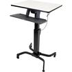 Ergotron - WorkFit-PD, Sit-Stand Desk (Light Grey) - Black, Light Gray - Black, Light Gray