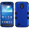 Insten - TUFF Case For Samsung Galaxy S4 Active i537 - Titanium Dark Blue/Black TUFF