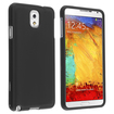 eForCity - Snap-On Hard Rubberized Case for Samsung Galaxy®Note 3 Note III N9000 - Black - Black
