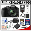 Panasonic - Lumix DMC-FZ200 Digital Camera with 32GB Card + Case + Battery + Flash + Filter + Tripod + Acc Kit