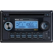 Boss - 822UA In-Dash Double-Din CD/MP3 Receiver with Front Panel AUX Input, USB, SD Card - Black