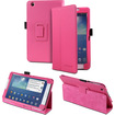Fosmon - Leather Stand Case Cover with Auto Sleep/Wake Function (Free Stylus) for Samsung Galaxy Tab 3 8.0
