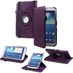 Fosmon - GYRE 360 Degree Rotating Leather Stand Case with Sleep/Wake Function for Samsung Galaxy Tab 3 8.0 - Purple