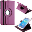 DrHotDeal - 360 Degree Rotating PU Leather Case Cover Swivel Stand for Samsung Galaxy Tab 3 8.0 P8200 Tablet - Purple