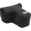 USA Gear - DuraNeoprene dSLR FlexArmor Camera Sleeve Case for Canon EOS / Rebel T3, T3i, T4i, 6D & More - Black