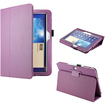 DrHotDeal - PU Leather Folio Cover Case Stylus Holder Stand for Samsung Galaxy Tab 3 10.1 P5200 tablet - Purple