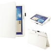 DrHotDeal - PU Leather Folio Cover Case Stylus Holder Stand for Samsung Galaxy Tab 3 10.1 P5200 tablet - White