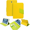 GreatShield - VANTAGE POP Series Leather Stand Case with Auto Sleep/Wake function for Samsung Galaxy Note 8.0 - Green, Yellow