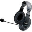 Inland - Multimedia Headset with Volume Control - Black - Black