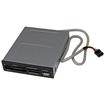 Startech - 3.5in Front Bay 22-in-1 USB 2.0 Internal Multi Media Memory Card Reader - Black - Black