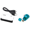 eForCity - 26-In-1 USB 2.0 Flash Memory Card Reader and SIM Card Reader Bundle- Black/White/Blue