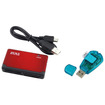 eForCity - Memory Card Reader and SIM Card Reader Bundle - Black/Blue/Red