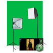 Westcott - Illusions uLite Green Screen Photo Lighting Kit - Chromakey Green - Chromakey Green