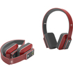 iDeaUSA - AtomicX Bluetooth Headphone w/ Mic (Red) - Red