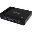 Startech - 4 Port SuperSpeed USB 3.0 Hub - Black