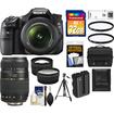Sony - Alpha SLT-A58 Camera, 18-55 Lens, Tamron 70-300 Lens, 32GB, Case, Batt, Tripod, Filtrs, 2 Lens Kit