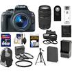 Canon - SL1 Camera+EFS 18-55 IS STM Lens+EF75-300 III Lens+64GB Card+Battery+Backpack+2 Lenses+Acc Kit