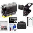 Sony - 1080p Wi-Fi HD Video Camera Camcorder, LCD Camcorder Cradle, 32GB Card, Battery, Case & Acc Kit