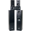 Fluance - Surround Sound Home Theater 5.0 Speaker System including Floorstanding Towers,Center & Rear Speakers - Black Ash Vinyl Veneer