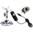 AGPtek - Digital Microscope Endoscope Magnifier Video Cam-8 LEDs 2 MP Maximum 800X - Black