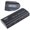 AGPtek - USB 3.0 6-Port Hub with 12V 4A Power Adapter Highest Capacity support iPad Charging