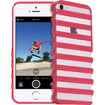 Fosmon - DECOR Series Ladder Design Protective Hard Back Skin Case Cover for Apple iPhone 5 / 5S - Hot Pink Ladder - Hot Pink Ladder