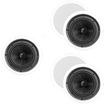 "Theater Solutions - Theater Solutions 8"" In Ceiling Home HD 5 Speakers Set 1500 Watts TSS8C-5S - White"