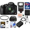 Panasonic - Lumix DMC-FZ70 Digital Camera (Black) w/32GB Card+Battery+Case+Flash+Tripod+HDMI Cable+Accessory Kit