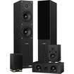 Fluance - SXHTB 5 Speaker Surround Sound Home Theater System - Black Ash