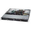Super Micro - SuperServer Barebone System - 1U Rack-mountable - Intel C224 Chipset - Socket H3 LGA-1150 - Black