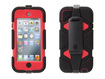 Griffin Technology - Black/Red Survivor Case + Belt Clip for iPod touch (5th gen.) - Red