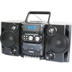 Naxa - Portable MP3/CD Player AM/FM Radio Cassette NPB-428 - Black