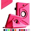 Fintie - Rotating PU Leather Case Cover for Samsung Galaxy Tab 3 7.0 inch Tablet - Magenta