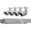 SVAT - 8CH Smart Security DVR 4 Hi-Res 75ft Night Vision Cameras 500GB HDD - Black, Silver