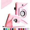 Fintie - Rotating PU Leather Case Cover for Samsung Galaxy Tab 3 7.0 inch Tablet - Pink