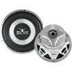 "Absolute USA - EX900 10"" Dual 4 ohm Excursion Series Subwoofer - Black, Silver"