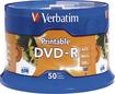 Verbatim - DVD-R 4.7GB 16x Inkjet Printable 50pk Spindle - White