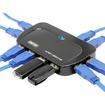 Image - 10 Port USB 3.0 10 Port Portable SuperSpeed Hub w/ 5V 4A Power Adapter - Black