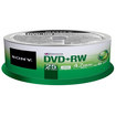 Sony - DVD Rewritable Media - DVD+RW - 4x - 4.70 GB - 25 Pack Spindle