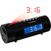 Magnasonic - Projection Dual Alarm Clock Radio Auto Time Set Restore Motion Activated Snooze - Black