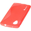 GreatShield - Guardian S Series Slim-Fit S-Line Design [High Quality TPU] Skin Case Cover for Google Nexus 5 - Red S Shape