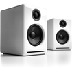 Audioengine - A2 Powered Bookshelf Speakers with Built-in DAC-Pair - White