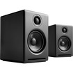 Audioengine - A2+ 2.0 Powered Multimedia Desktop Speakers (2-Piece) - Satin Black - Satin Black