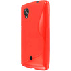 MPERO - FLEX S Series Protective Case for Google Nexus 5 - Red S Shape - Red S Shape