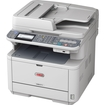 Oki - MB401 LED Multifunction Printer - Monochrome - Plain Paper Print - Desktop - Multi