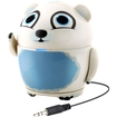 GOgroove - Groove Pal Polar Bear Portable Rechargeable Speaker with Dual High-Excursion Drivers - White