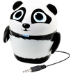 GOgroove - Groove Pal Panda Portable Rechargeable Speaker with Dual Drivers for Portable DVD Players - Black, White