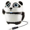 GOgroove - Pal Panda Portable Rechargeable Speaker w/ Dual Drivers & Subwoofer for HTC One M8 Smartphone - Black